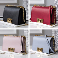 Made handbag genuine leather classic luxury BRANDED petty square with flap and closing fashionable Joker huge capacity with shoulder crosses