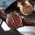 Ochstin esporte relógios dos homens top marca de luxo relógio de quartzo-relógio de couro dos homens do exército militar relógio de pulso relógio masculino relogio masculino
