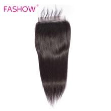 Fashow-Lace Closure Remy 6*6, cheveux naturels de bébé, pre-plucked, grande taille 6x6, ligne de cheveux naturelle avec nœuds décolorés
