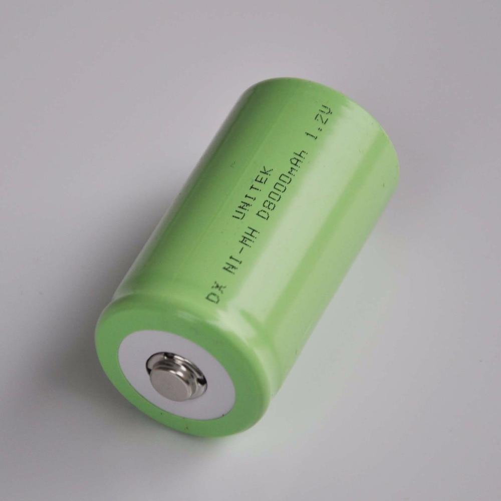 1-5 unids v. 8000 V NI-MH batería recargable mAh R20 R20 D tamaño NIMH NI MH celda para horno a gas quemador LED linterna y reloj