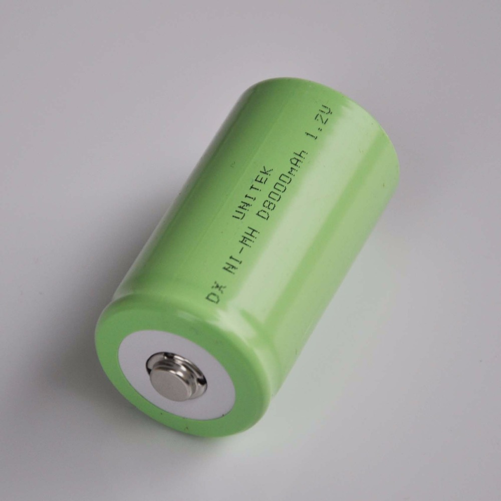 1-5PCS 1.2V Ni-Mh rechargeable <font><b>battery</b></font> 8000mah LR20 <font><b>R20</b></font> D Size NIMH NI MH cell for gas cooker oven burner LED torch and clock image