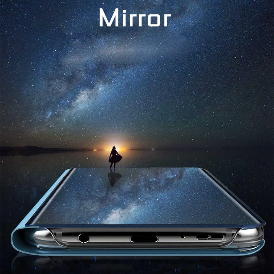 Funda KISSCASE para Huawei Y7 Y9 Y6 Y5 2018 funda abatible con soporte de espejo de lujo para Huawei Mate 20X20 LIte 10 Lite 10 Pro Capinhas bolsa