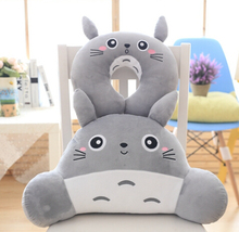 Cute 1pc cartoon sweet smile totoro plush car office sofy rest pacify U neck pillow waist