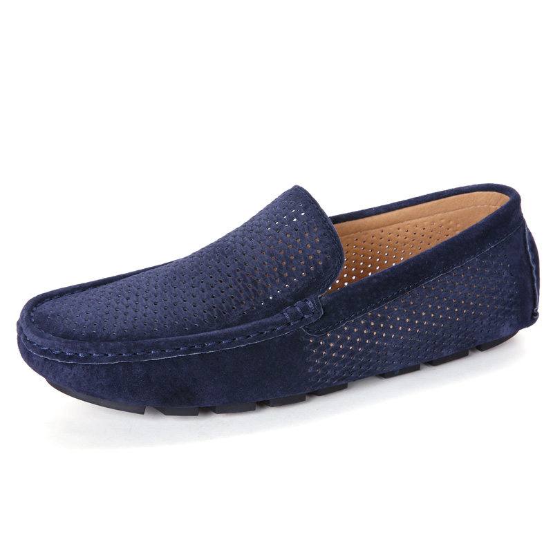 POLALI 2017 Summer Loafers Men Shoes Casual Genuine Leather Flats Shoes Soft Male Moccasins Breathable Gommino Driving RMC-216 2017 new fashion summer spring men driving shoes loafers real leather boat shoes breathable male casual flats