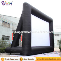 Free shipping 9x6m giant inflatable movie screen for movie theme event customized open air film frame advertising screen tent