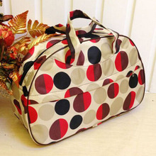 Wholesale 5* ( Waterproof Oxford Women bag Red Circles Pattern Travel Bag Large Hand Canvas Luggage Bags