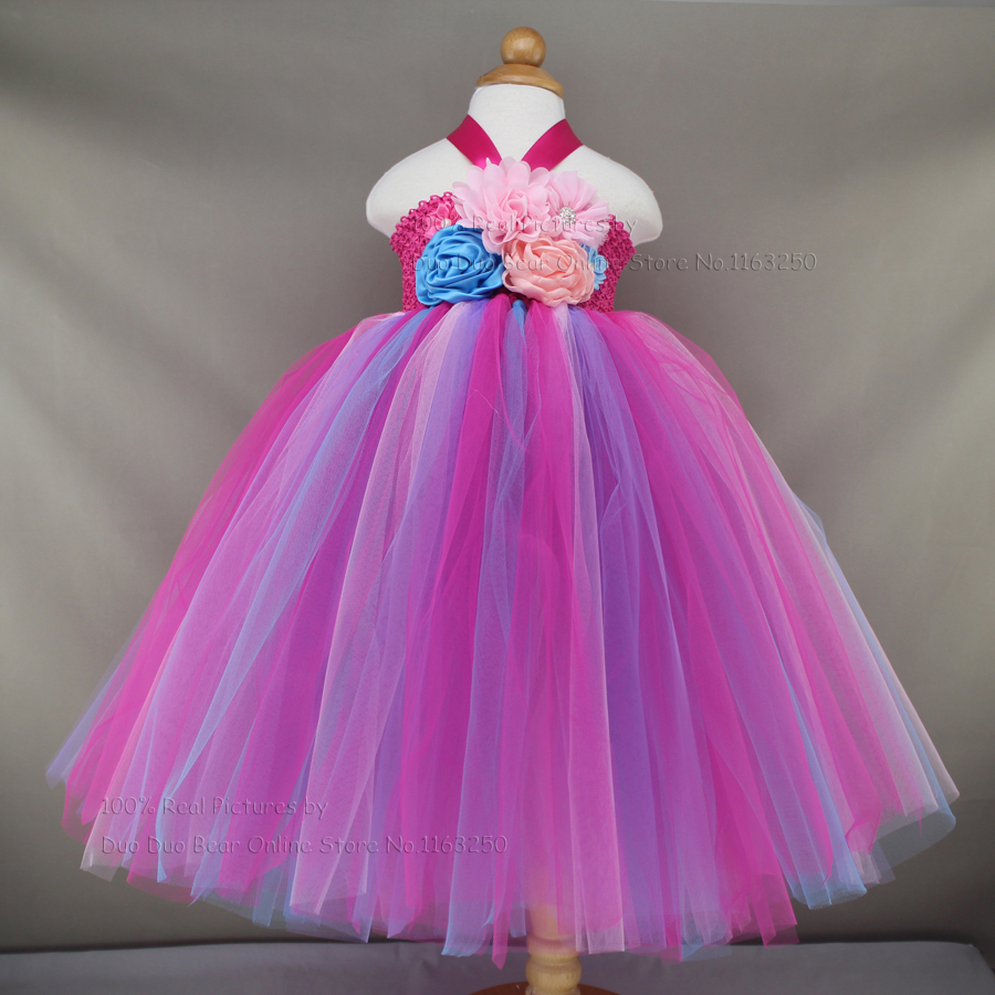 Fashion Princess Kids Dresses For Girls Birthday Tutu Evening Dress Toddler Girl Clothing Baby Party Frocks Princesa Costumes