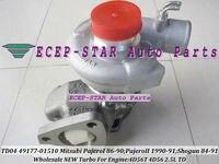 Free Ship Oil Cooled Turbo TD04 49177 01510 49177 01511 MD168053 MD168054 MD106720 For Mitsubishi Delica L200 L300 88 4D56 2.5L
