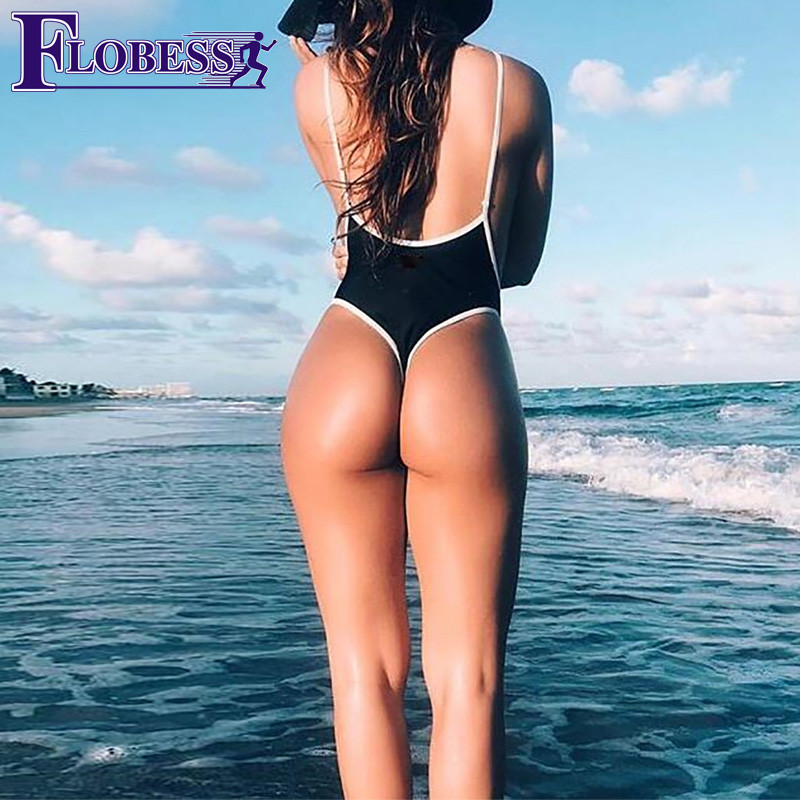 FLOBESS 2018 Summer Sexy Swim Bodysuits Women Spaghetti Strap Baby Girl Sports Rompers Ladies Overalls Cami Hot Jumpers