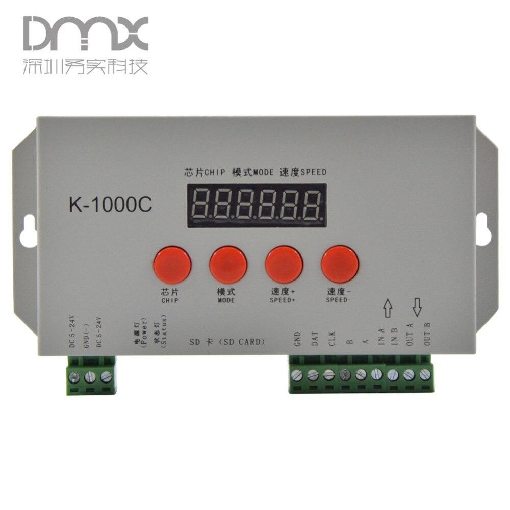 Mokungit K 1000c T 1000s Upgraded Version Led Pixel Sd Card Baja Designs Hid Universal Wiring Harness Splitter 2light 3pin Controlleroff Line2048 Pixels Controlledspi Signal Output