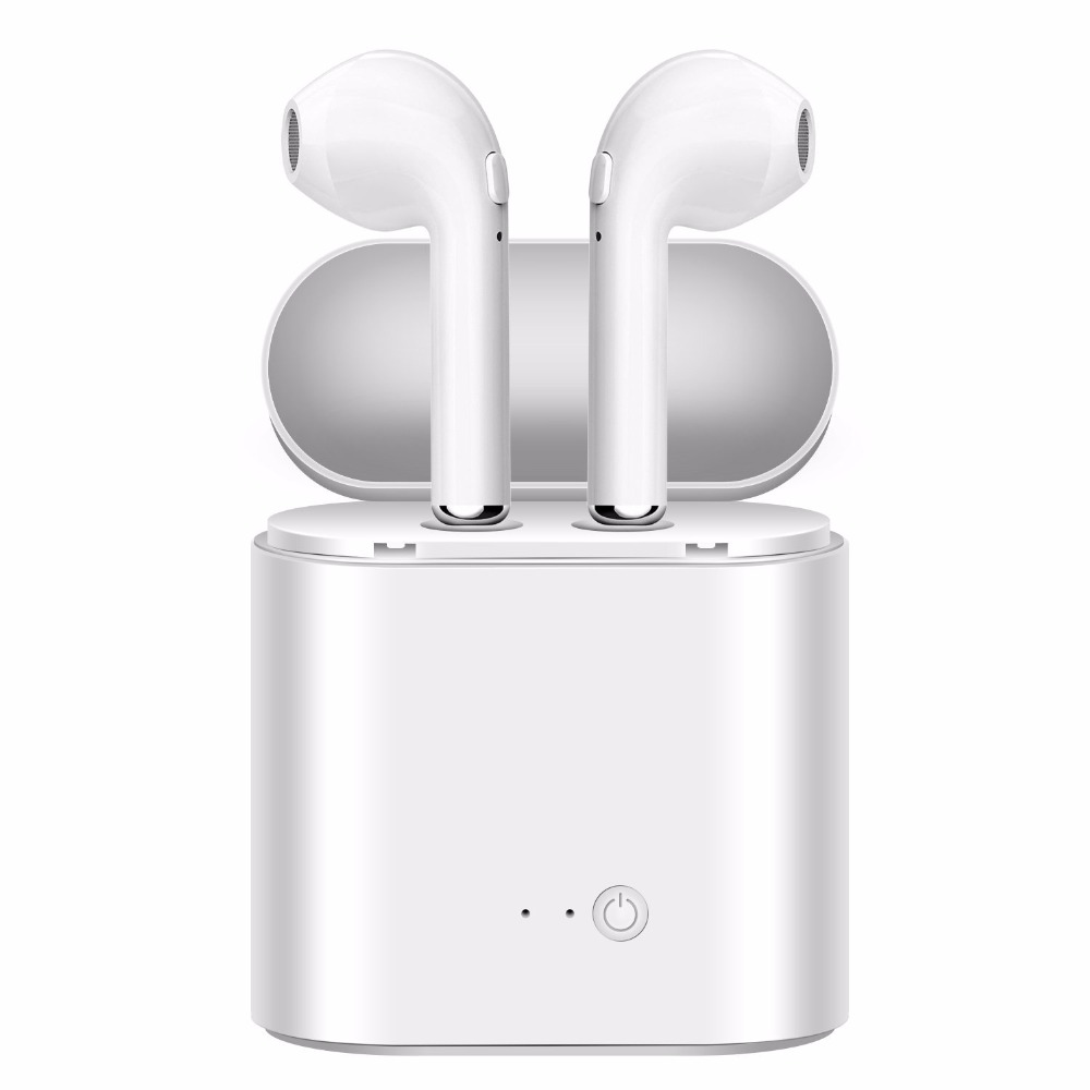 KUYiA True Bluetooth auriculares, i7s tws Binaural con estación Dock estéreo deporte auricular impermeable para IOS Android dispositivo
