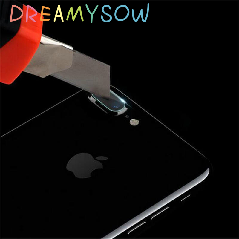 DREAMYSOW Crystal Back Camera Lens Screen Protector For iPhone X 8 7 6 6S Plus Camera Tempered Glass Film For Apple 5 5S SE