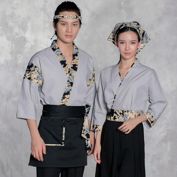 Japanese Restaurant Uniforms Man&Woman Japanese Cooking Form Chef Japanese Food Sweets