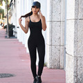 Newest 2016 Thin Rompers Women Jumpsuit Casual sexy Black solid Hollow Sleeveless Long Playsuits Plus Size overalls Clothing#3