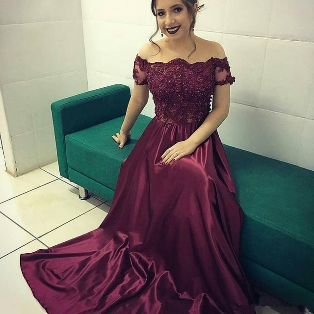modest burgundy lace mother of the bride dresses 2019 off