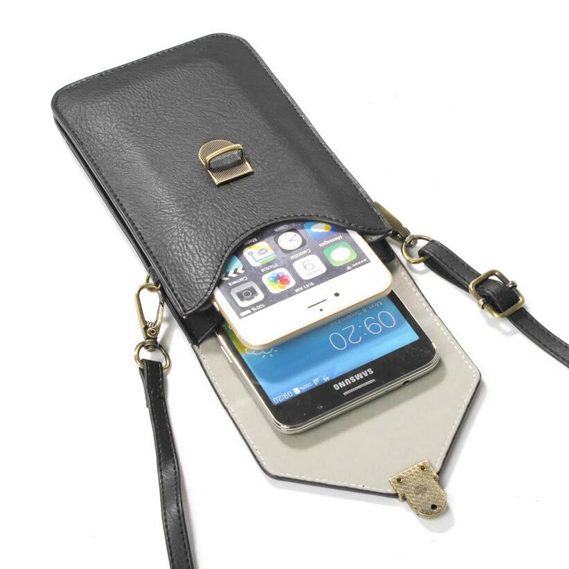 Universal Neck Wallet Pouch Leather Case For Iphone 7 6s Plus Phone Bag Shoulder Pocket For Xiaomi MAX MIX Redmi 4x Cover Purse