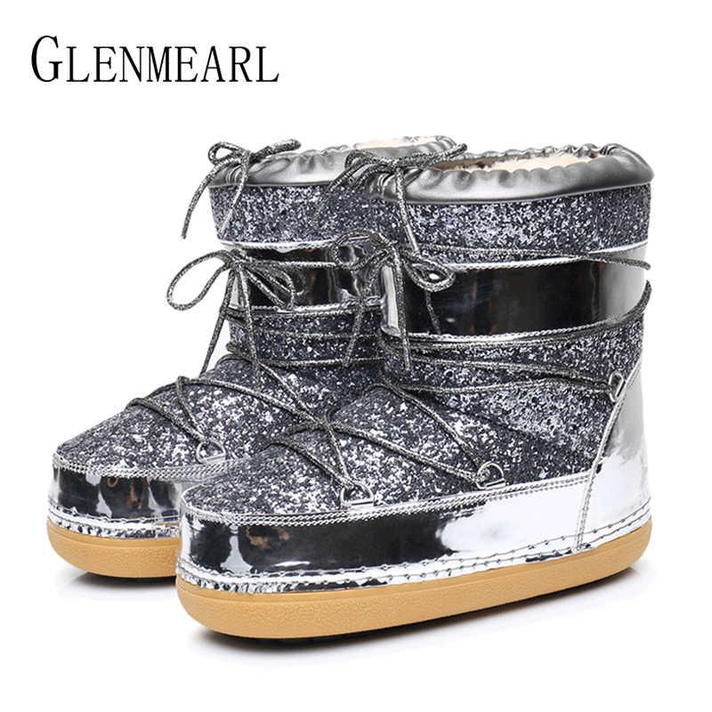 ... Snow Boots Winter Ankle Boots Women Shoes Fur Warm Boots Female Plus  Size Casual Shoes Platform ... 0eee464c40f9