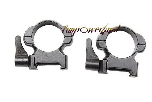 Soporte de acero para rifle Weaver 1 pulgada Perfil medio Cierre de - Caza