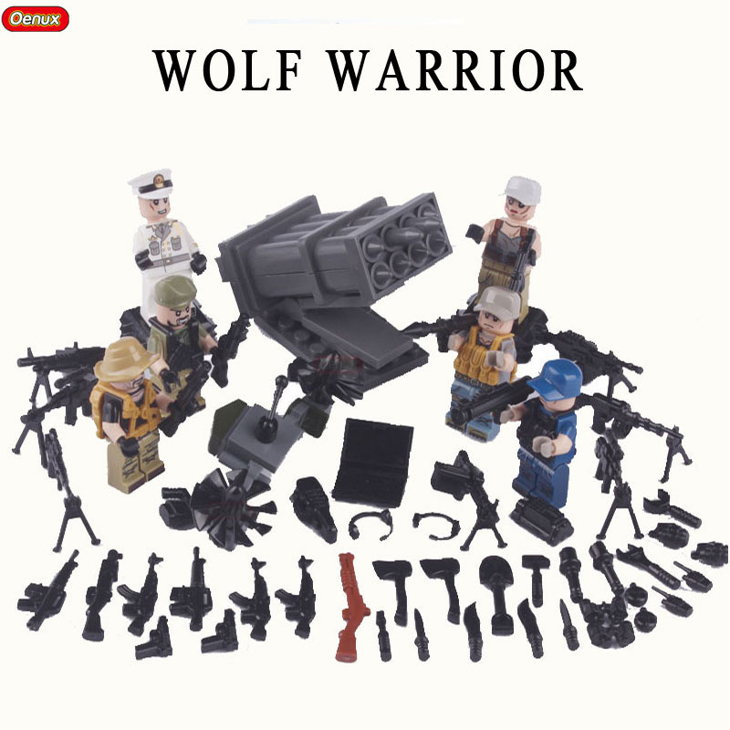 Oenux New Arrival Military Wolf Warrior Army Building Block Toy Modern Special Force Female Soldier Mini Doll Brick Toy For Kids shoulder bag pu leather women messenger bags bolsa feminina sac high quality crossbody bag for ladies female girls double zipper