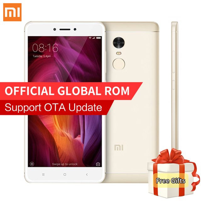 Глобальный версия xiaomi redmi note 4 qualcomm 3 ГБ 32 ГБ смартфон snapdragon 625 octa core 13.0mp камера отпечатков пальцев поддержка ota