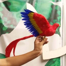 new simulation colourful Phoenix toy plastic & furs wings long tail bird gift about 30cm