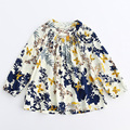 2017 New fashion chiffon dress girl kids clothing children floral print dresses casual kids spring clothes