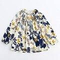 2017 Nueva moda gasa vestido de niña de niños ropa niños de la impresión floral vestidos casuales niños primavera ropa