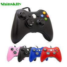 USB Wired Joypad Gamepad For Microsoft Xbox 360 Console Wired Controller Black White Pink Red Blue