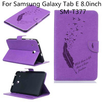 Ultra Slim Lightweight Standing Wallet Cover For Samsung Galaxy Tab E 8 0 Inch SM T377