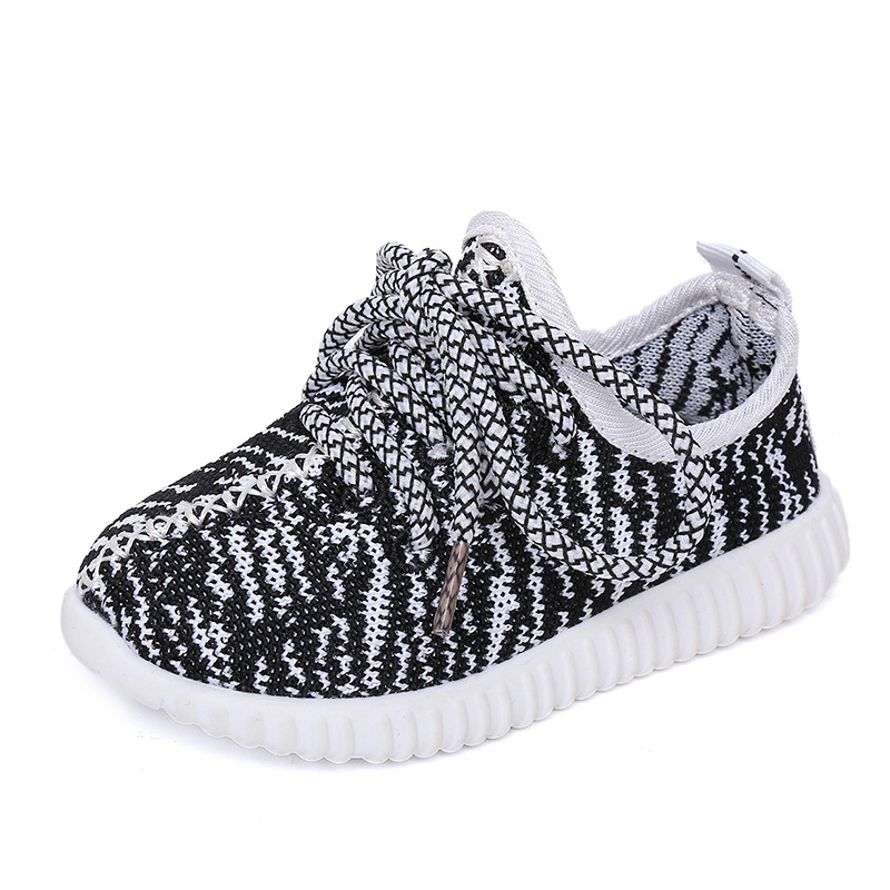 AKexiya 2017 Nuevos Zapatos de Los Niños Niños Niñas Zapatilla de deporte Transpirable Lace Up Sport Malla Zapatos 4 color Tamaño 21-35