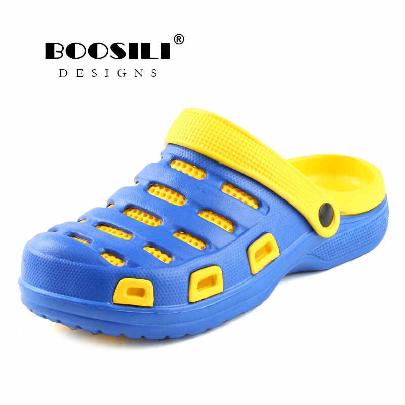 c91f37821185 2019 Erkek Ayakkabi Mens Leather Sandal Men s Garden Shoes Summer Sandals  High Quality Breathable Clogs Lightweight
