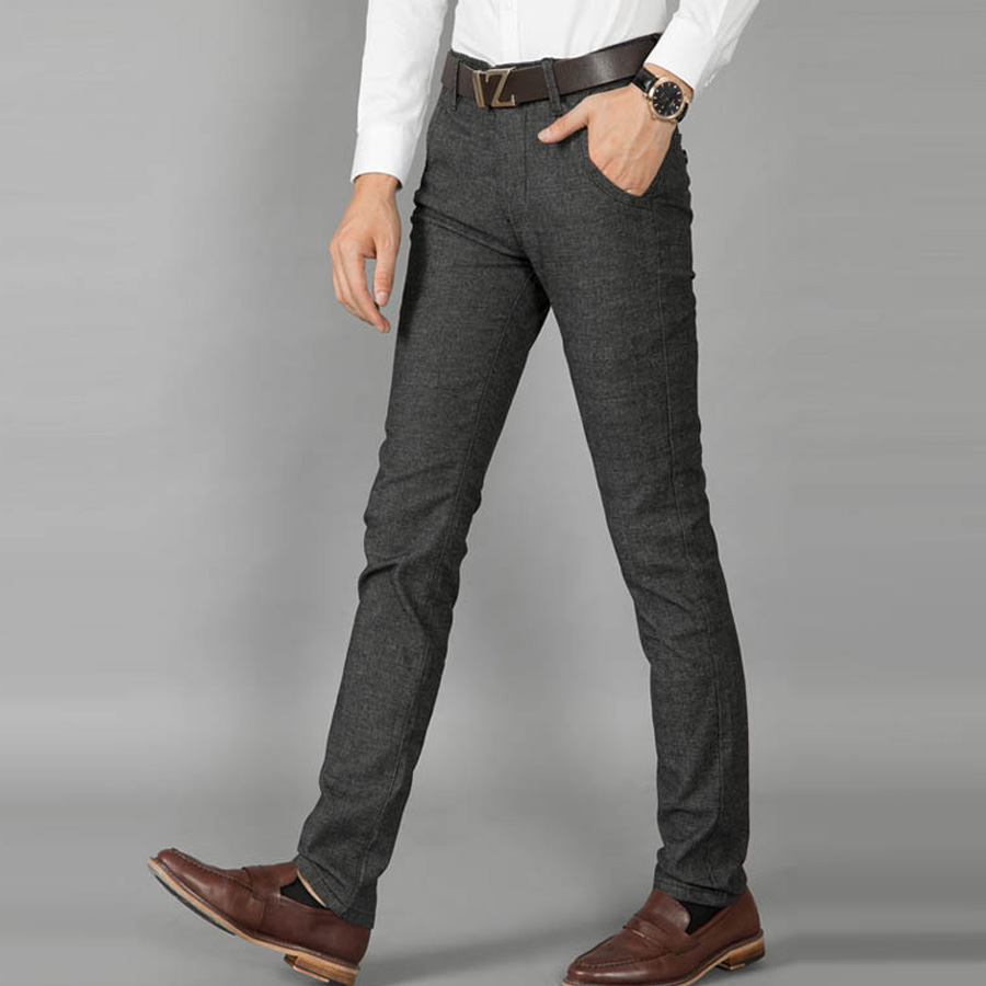 Men Casual Pants Straight Joggers Cotton True Formal Pants Male Pantalones Hombre Emoji Joggers ...