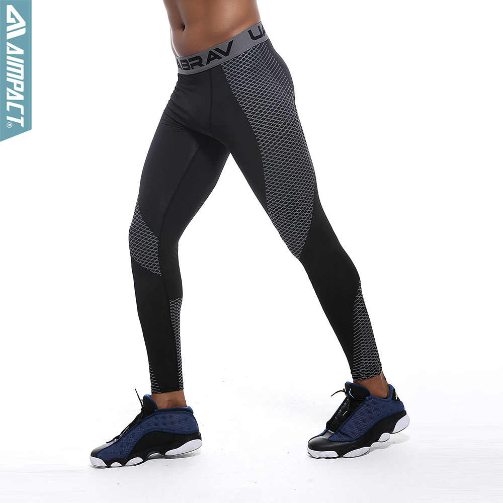 Quick Dry Fitness Sport Pants Men Bodybuilding Basketball Running Training Legging Compression Pants Elastic Gym Tights Am5103 Leggings Aliexpress