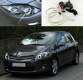 For TOYOTA Auris Facelift 2010 2011 2012 Excellent CCFL Angel Eyes Ultra bright headlight illumination angel eyes kit Halo Ring