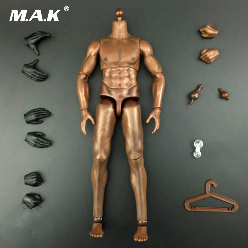 16 Scale Male Strong Body Figure Coffee Color for 12 inches Action Fugure