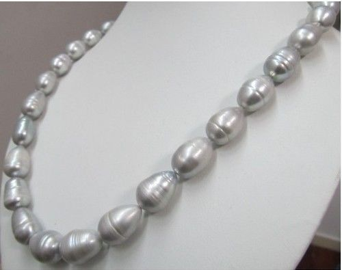 1810-13MM Tahitian GRAY PEARL NECKLACE 1810-13MM Tahitian GRAY PEARL NECKLACE