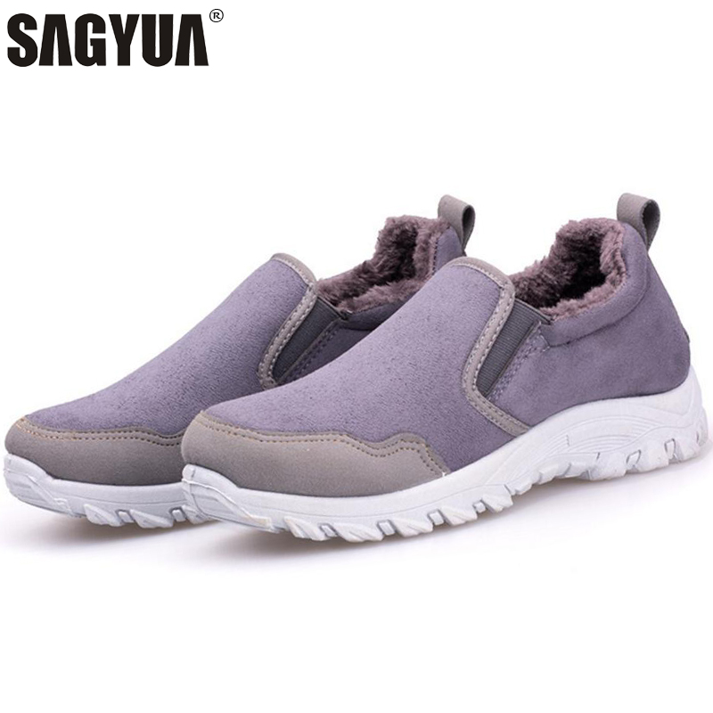 New 2018 Winter Women Lady Feminine Fashion Casual Shallow Comfort Thick Cotton Lining Slip-On Loafers Lazy Shoes Plimsolls T820 foot sequins slip on plimsolls