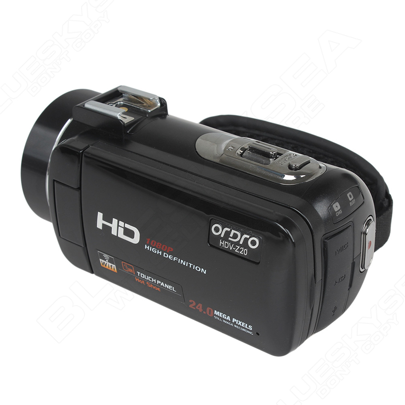 """ORDRO HDV-Z Digital Video Camera Camcorder 3.0"""" Touch Screen 1080P Full HD 16X Zoom 24MP Face Detection LED Fill-in Light DV 20"""