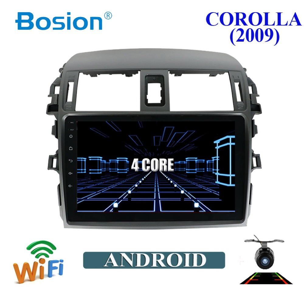 2din ANDROID 8 Car DVD AUTORADIO NAVIGATION WIFI 4G DAB OBD2 For Toyota Corolla 2009 Video