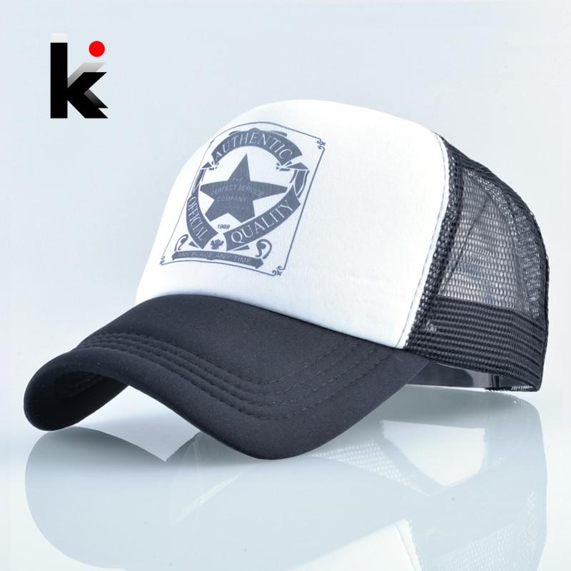 Hat Baseball-Cap Snapback Trucker Kpop Mesh Hip-Hop Bone-Mosculino Fashion Unisex Women