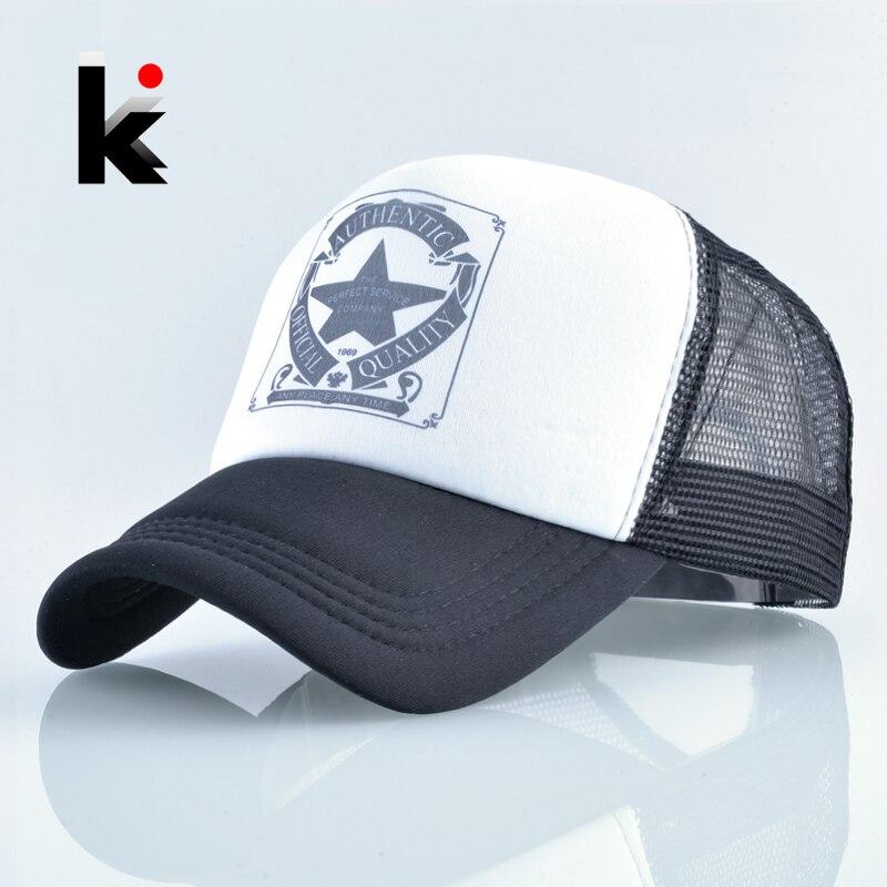 Fashion Trucker Hat For Men And Women Summer Mesh Baseball Cap Unisex Snapback Hip Hop Bone Mosculino Casquette Kpop Gorras Бейсболка