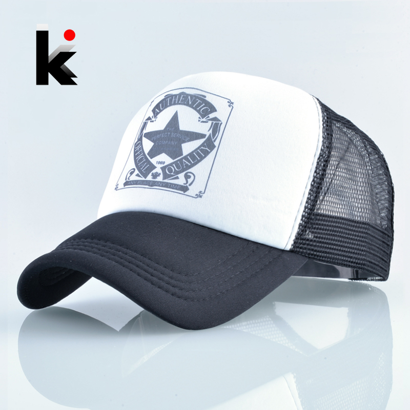 2018 Fashion Trucker Hat For Men And Women Summer Mesh   Baseball     Cap   Unisex Snapback Hip Hop Bone Mosculino Casquette Kpop Gorras