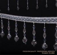 15m Hexagonal Bead Tassel Lace Curtain Trimmings Fringes Hanging Trim Sofa Curtains Accessories Decor