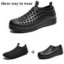 Aqua Shoes Men Outdoor Water Beach Upstream Hole Non-Slip Lightweight Breathable Sport Soft Sneaker