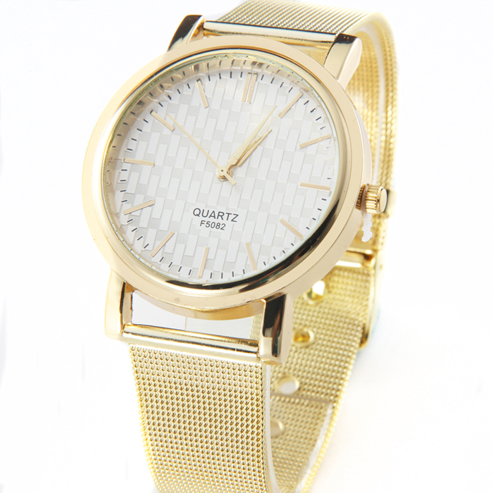 New Gold Classic Womens Quartz Watch Stainless Steel Wrist Watch Lady Style Luxury Brand Women Watch Relogio Feminino #pl266