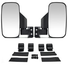 Set of 2 UTV Side View Mirror for 1.5 - Roll Cage Tempered Glass Breakaway Mirrors