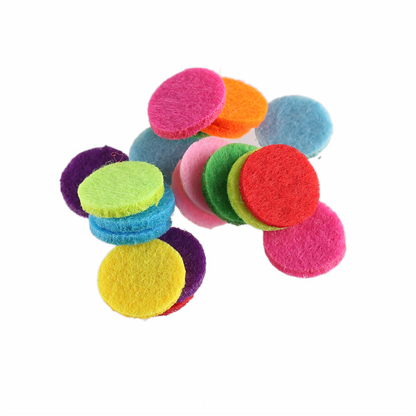 30pcs 20mm Fashion Padded Felt round shape craft DIY Appliques Aromatherapy Essential Scrapbook 3mm thick ...