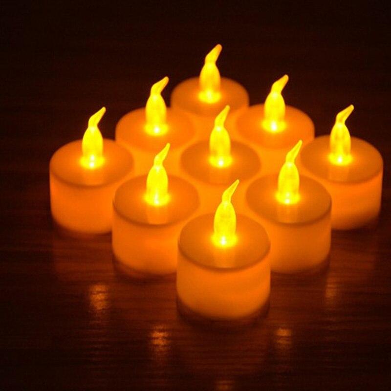 4pcs/set Hot Fashion Plastic Candle Shape Electric Fliker Flameless Candle Light for Wedding Party Holiday Novelty Gag Toys