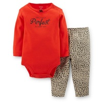 LL2-028,New Collection,  Baby Girls 2-Piece Bodysuit With Long-sleeve and Pants Set, , Cuteness, Free Shipping