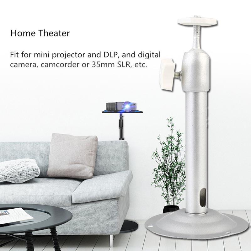 Cewaal Универсальный алюминиевый сплав мини ЖК-проектор Потолочный настенный кронштейн держатель подставка 180 мм длина аксессуары для проектора